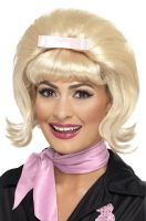 50s Flicked Beehive Bob Adult Wig (Blonde)