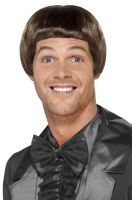 90s Bowl Cut Wig (Brown)