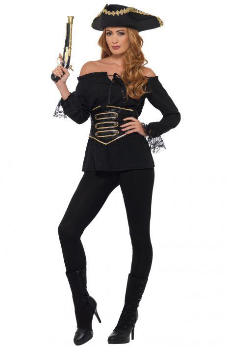 Costumeblack Shirt Adult Deluxe Pirate Adult Shirt Deluxe Pirate Costumeblack Deluxe nPX8kwO0