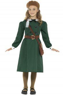 Home School Historical Costumes WW2 Girl Child Costume