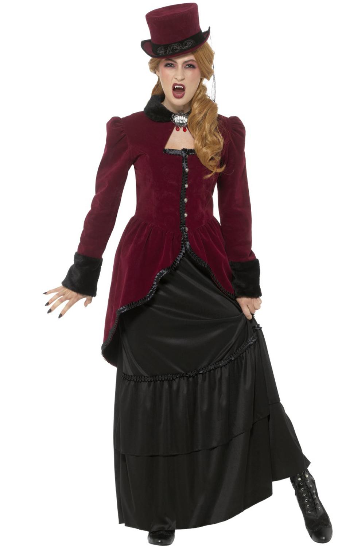 Deluxe Victorian Vampiress Adult Costume Purecostumes Com