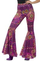 Psychedelic Flared Trousers Adult Costume
