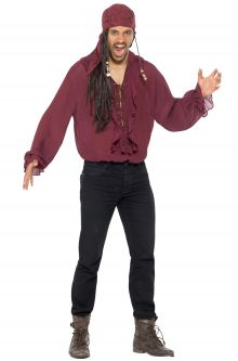 pirate shirt adult costume dark