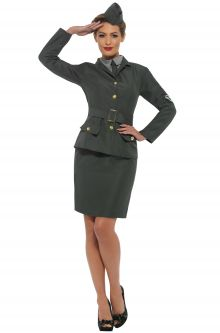 WW2 Army Girl Adult Costume  sc 1 st  Pure Costumes & 40u0027s Costumes for Adults - PureCostumes.com