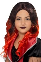 Kids Witch Wig (Black/Red)
