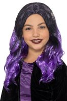 Kids Witch Wig (Black/Purple)
