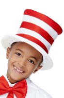 Stripy Red and White Child Hat