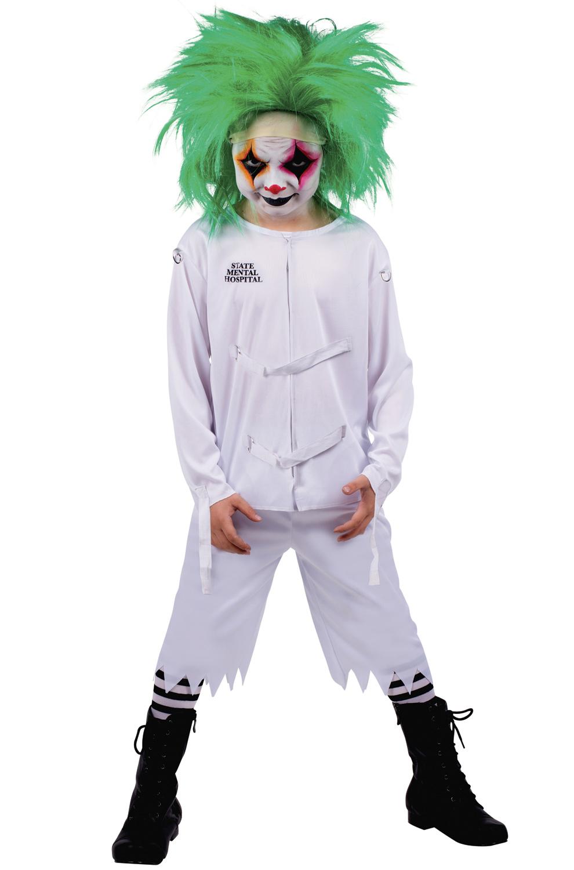psych ward clown child costume