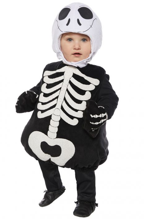 88672cb44683 Skeleton Belly Baby Toddler Costume - PureCostumes.com