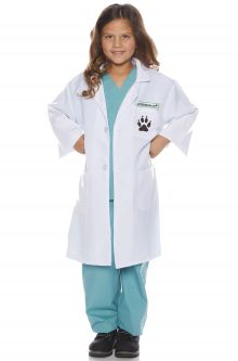 Paw Print Veterinarian Child Costume  sc 1 st  Pure Costumes : doctor costumes for adults  - Germanpascual.Com