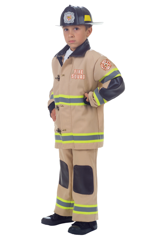 Firefighter Tan Uniform Kids Costume