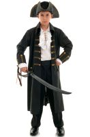 Pirate Captain Child Costume (Black)