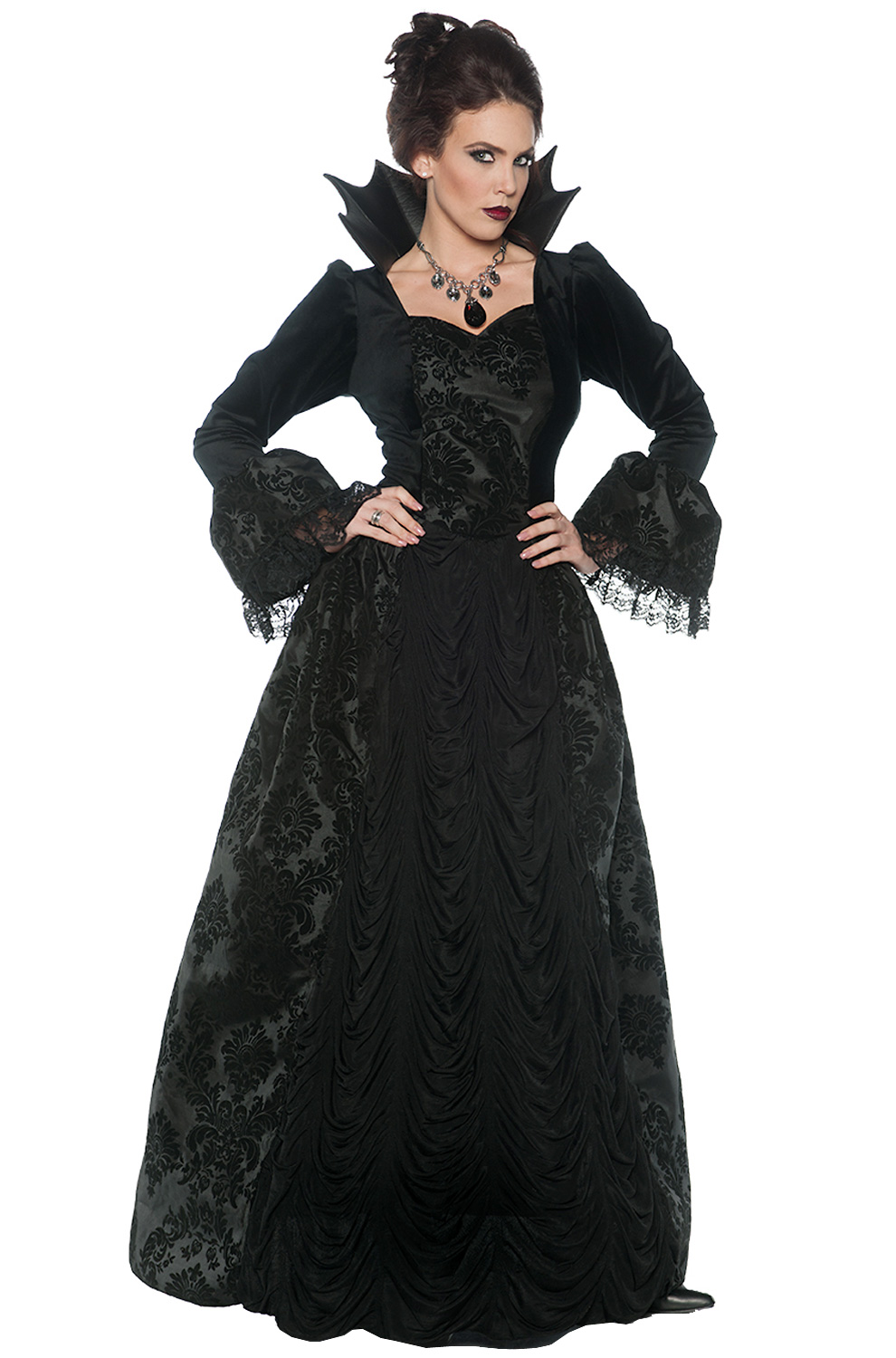 Gothic Evil Queen Adult Costume  sc 1 st  Pure Costumes : couples vampire costumes  - Germanpascual.Com