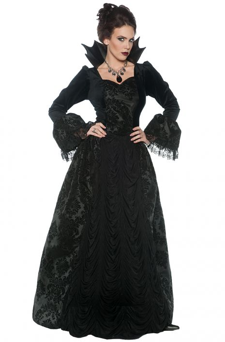 Gothic Evil Queen Adult Costume  sc 1 st  Pure Costumes : gothic womens costumes  - Germanpascual.Com