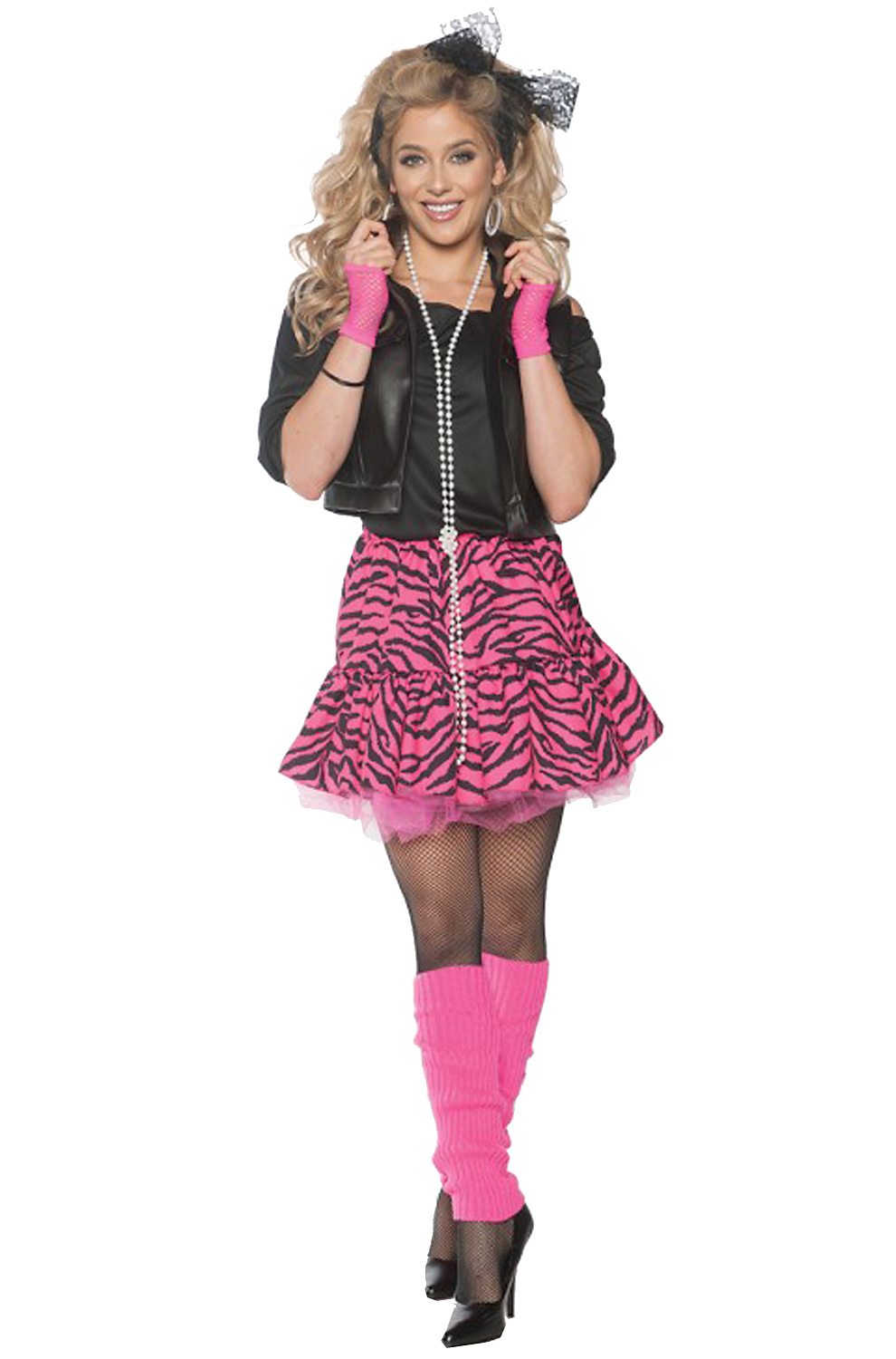 Rockin' The 80's Pink Adult Costume - PureCostumes.com
