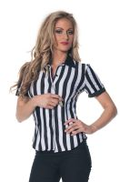 Referee Fitted Shirt Adult Costume