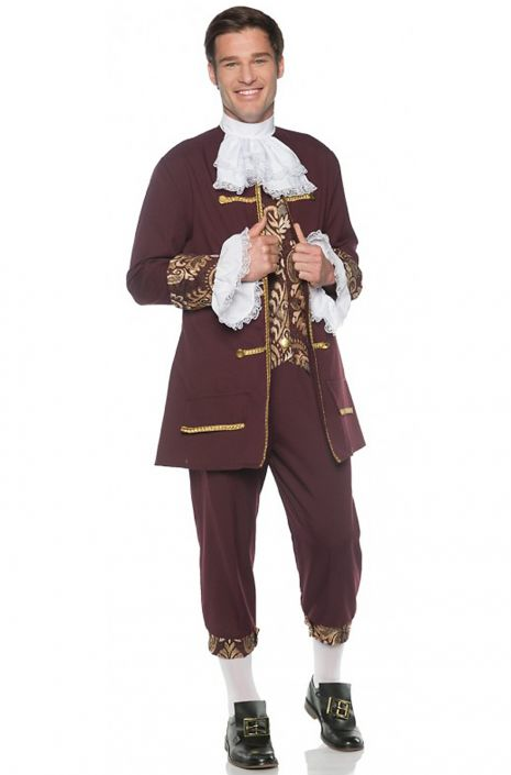 Colonial Gentleman Jacquard Adult Costume  sc 1 st  Pure Costumes & Colonial Gentleman Jacquard Adult Costume - PureCostumes.com