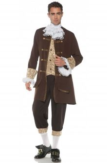 Expensive vs Affordable Costumes Colonial Jacquard Adult Costume