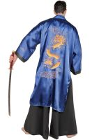 Samurai Warrior Male Plus Size Costume (Blue)
