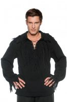 Tattered Pirate Shirt Black Adult Costume