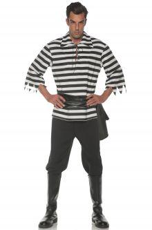 Striped Pirate Adult Costume (Black)  sc 1 st  Pure Costumes & Adult Pirate Costumes - PureCostumes.com