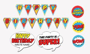 DIY Party Decor - Free Superhero Printables
