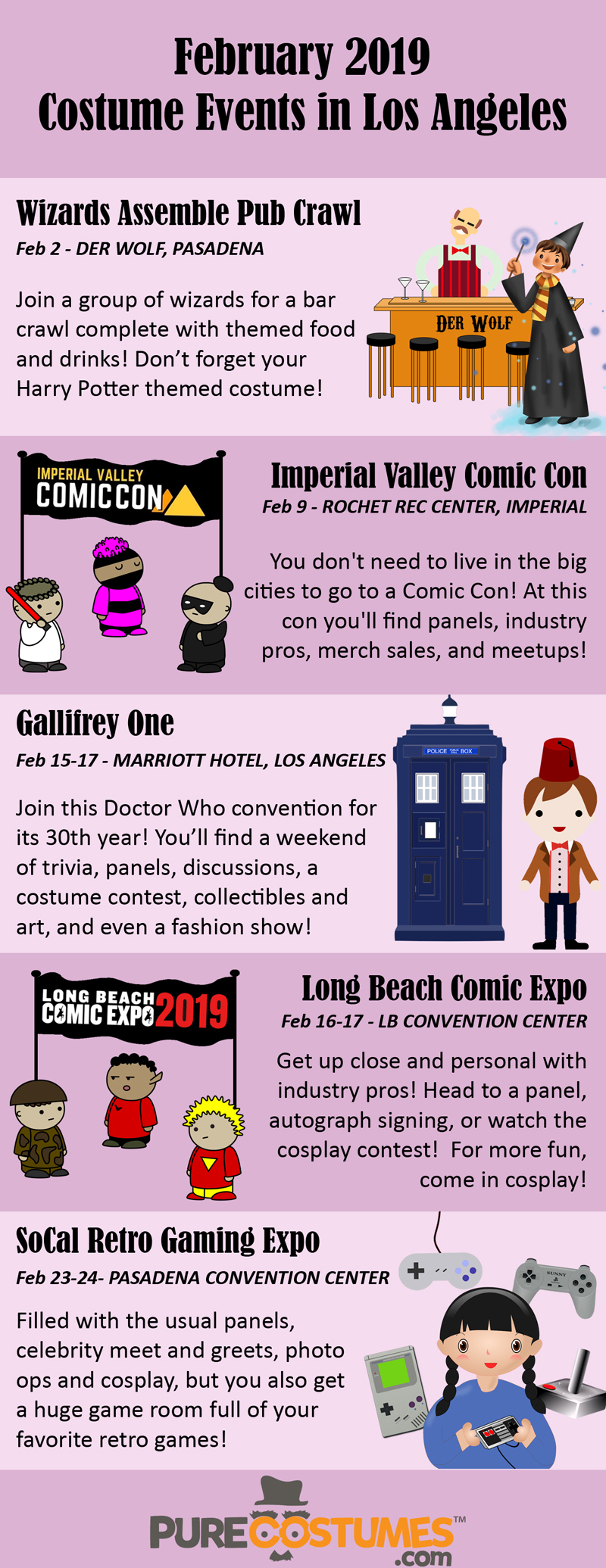 Los Angeles Area Costume Events February 2019
