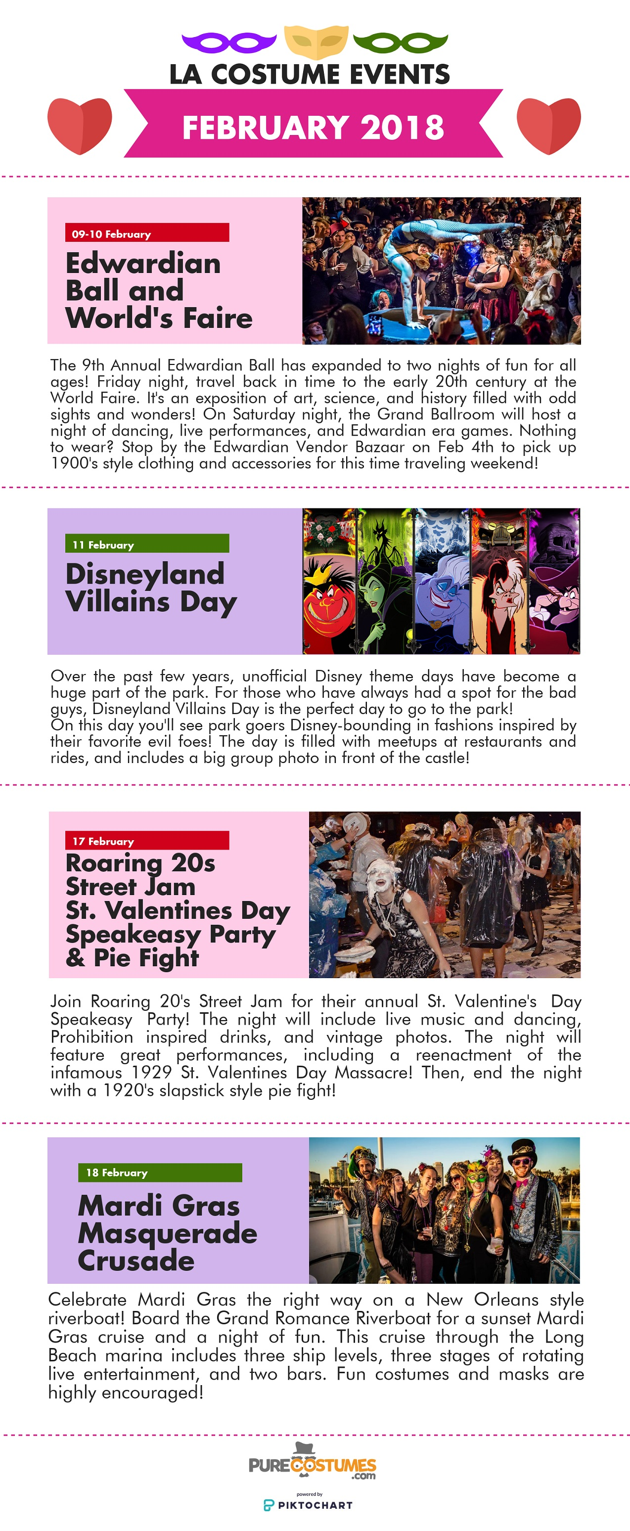 Los Angeles Costume Events February 2018