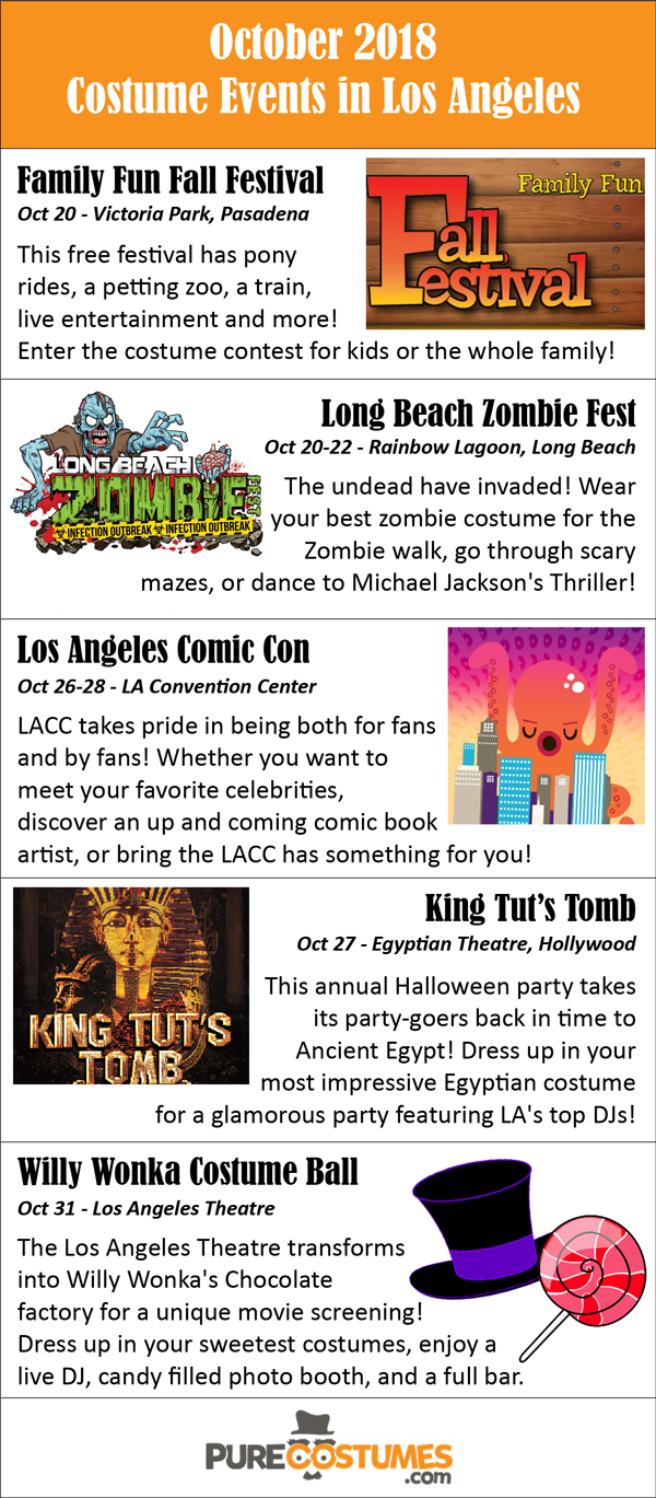 Los Angeles Area Costume Events October 2018