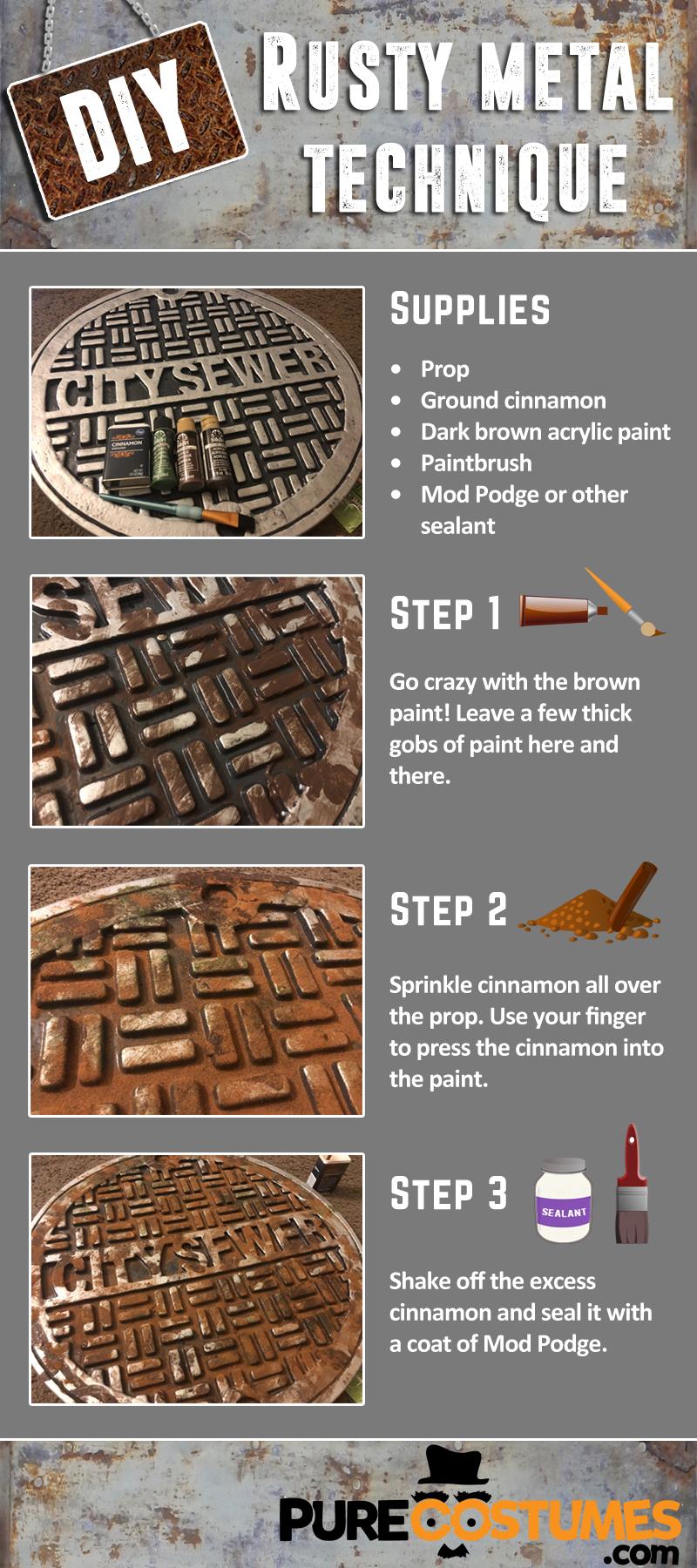 Infographic DIY Rusty Metal Technique