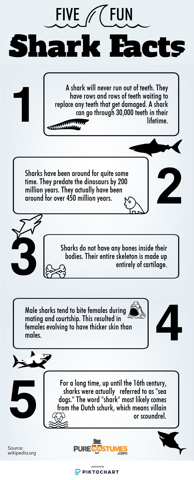 Infographic: Five Fun Shark Facts