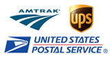 Amtrak, USPS and UPS